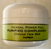 Herbal Power Peel PURIFIED COMPLEXION Charcoal Face Mask 4oz Pro