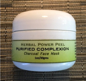 Herbal Power Peel PURIFIED COMPLEXION CHARCOAL MASK 1oz/30gms