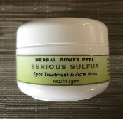 Herbal Power Peel SERIOUS SULFUR Spot Treatment & Acne Mask 1 oz